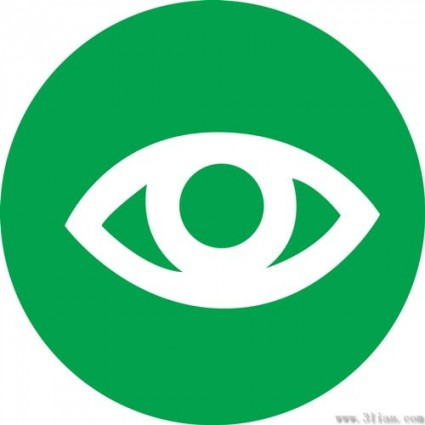 vector green background eye icon 280843
