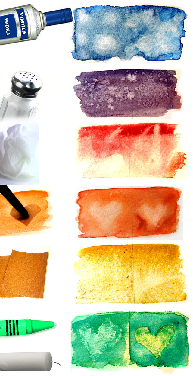 watercolour texture techniques by hatefueled