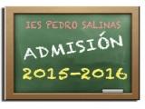 Admisión curso 2015-2016