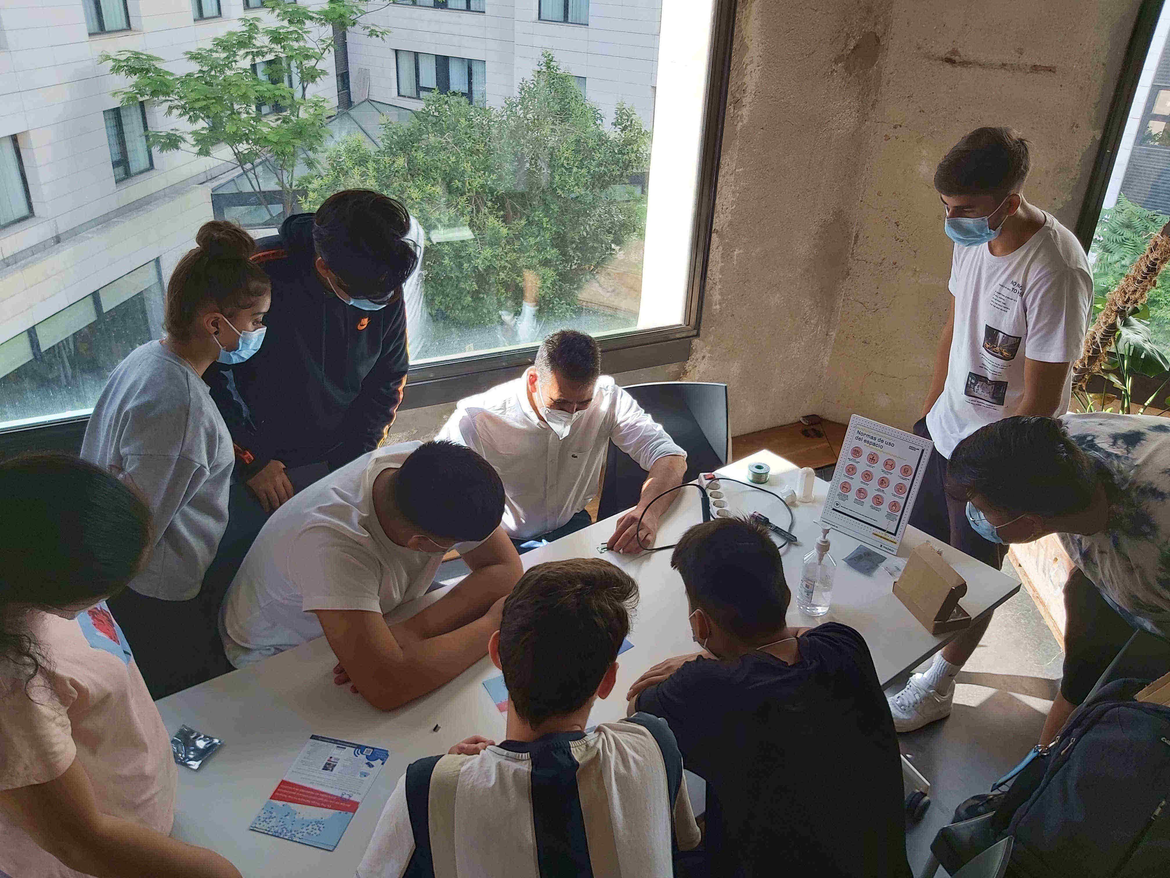 Imágenes del artículo: 4º D Tecnológico ha participado en el proyecto Pájaros en la Nube